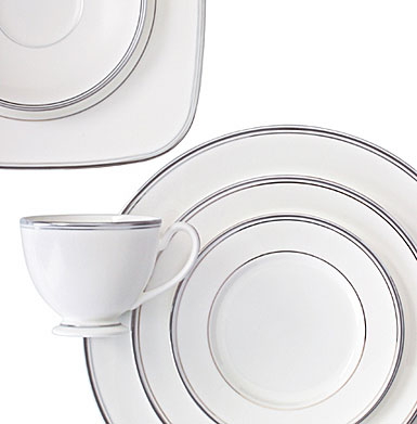 Waterford China Kilbarry Platinum, 5 Piece Place Setting