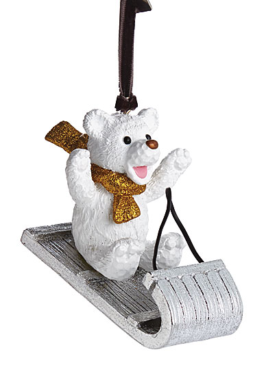 Michael Aram Sledding Teddy 2017 Ornament