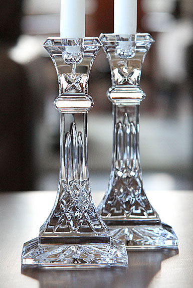 Waterford Lismore 8 candlesticks, pair