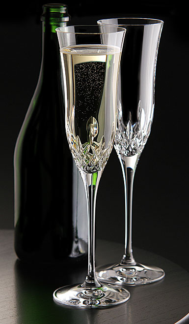 Waterford Lismore Essence Champagne Flute, Pair