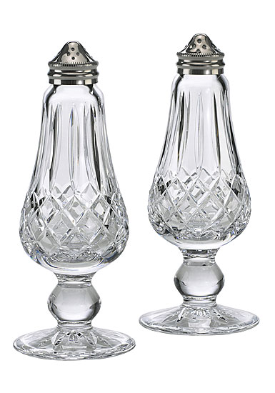 Waterford Lismore Footed Salt and Pepper Shaker Set