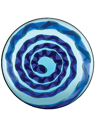 """Waterford Evolution Cobalt 20"""" Rush Platter"""