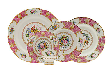 Lady Carlyle is a classic ex&le of the romantic floral tradition of Royal Albert. This intricate dinnerware pattern features a deep pink border ...  sc 1 st  Shannon & Royal Doulton Royal Albert Lady Carlyle Dinnerware - Shannon