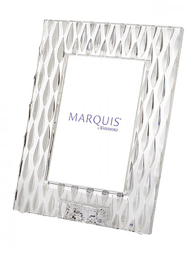 "Marquis By Waterford Rainfall 5x7"" Picture Frame, Portrait"