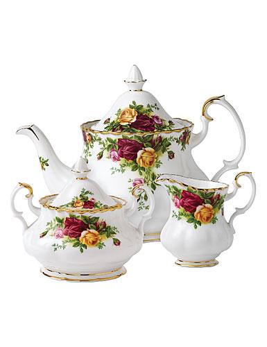 Royal Albert China Old Country Roses 3-Piece Tea Set