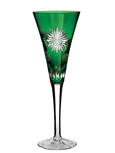 Waterford Snowflake Wishes Courage Prestige Edition, Emerald Flute