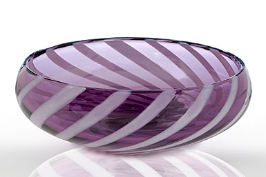 "Waterford Evolution Urban Safari Striped Bowl, 10""."