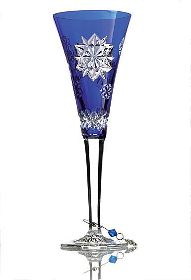 Waterford Snowflake Wishes Friendship Prestige Edition, Cobalt Flute 2017