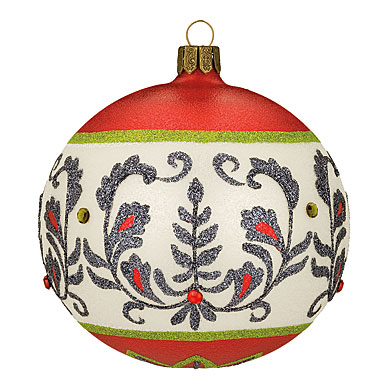 Waterford HH Damask Elegance Ball Ornament, 4""