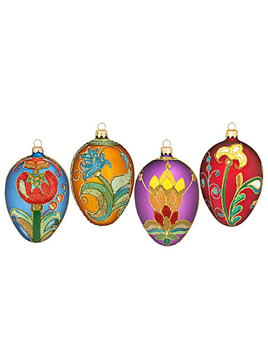 Waterford Heirloom Beaded Lace Seasonal Eggs, Set of 4