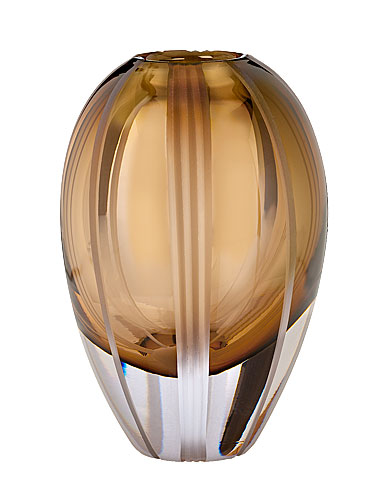 "Evolution By Waterford 8"" Autumn Breeze Vase, Brown"