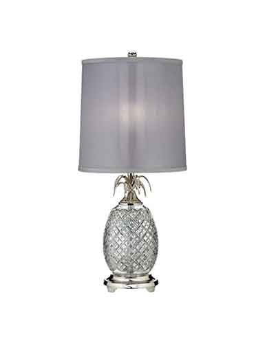 """Waterford Hospitality Pineapple Polished Nickel 26"""" Table Lamp"""