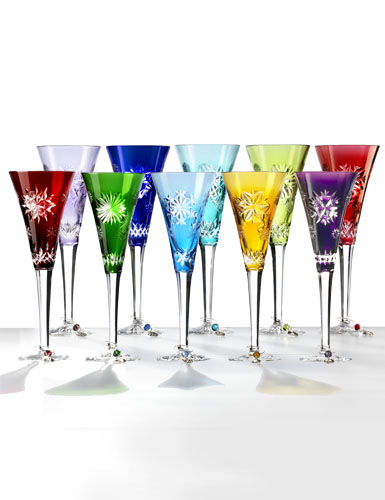 Waterford Snowflake Wishes 2011-2020 Prestige Cased Flutes, Set of Ten