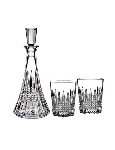 Waterford Lismore Diamond Decanter and DOF Pair Set