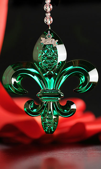 Waterford 2014 Fleur De Lys Ornament Emerald