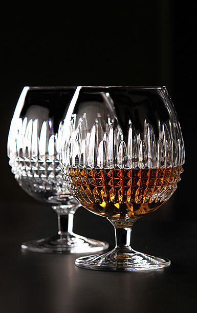 Waterford Lismore Diamond Brandy, Pair
