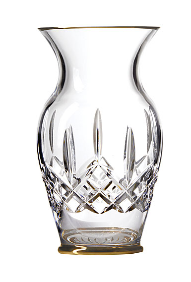 "Waterford Lismore Gold 8"" Vase"