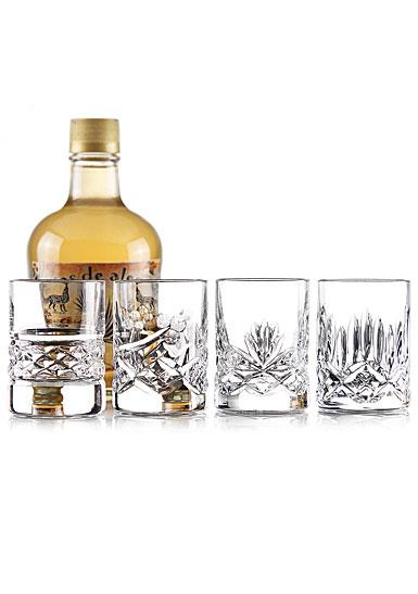 Cashs Crystal Shot Glass Set of Four Patterns