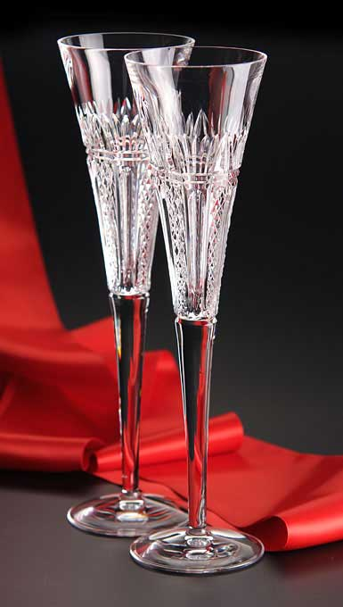 Waterford times square 2015 clear toasting flutes pair - Waterford crystal swimming pool times ...