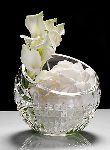 Waterford Fleurology Cleo 4in Clear Angled Rose Bowl