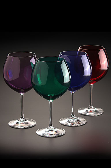 Marquis by waterford vintage jewels colored aromatic wine set of 4 - Waterford colored wine glasses ...