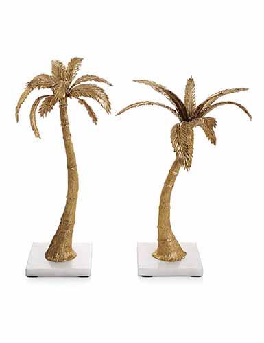 Michael Aram Palm Candleholders, Mixed Pair