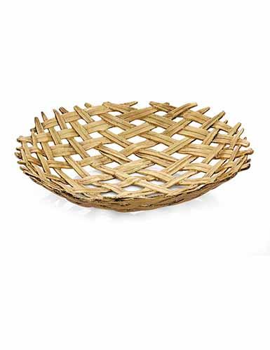 Michael Aram Palm Centerpiece Shallow Bowl