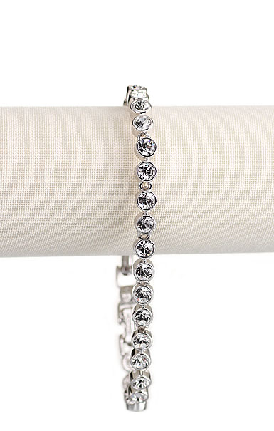 Swarovski Crystal and Rhodium Tennis Bracelet