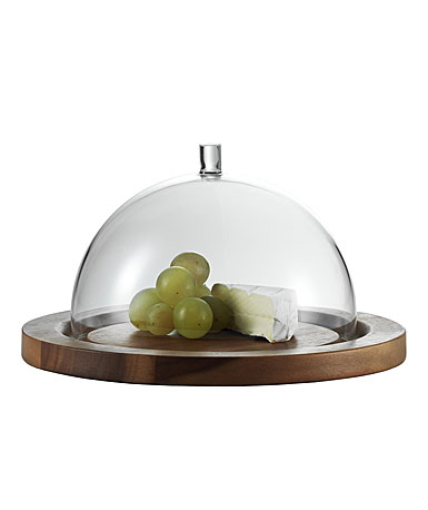 Jenaer Glas Cheese Dome With Acacia Plate