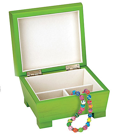Reed & Barton Anna, Lime Green Jewelry Chest
