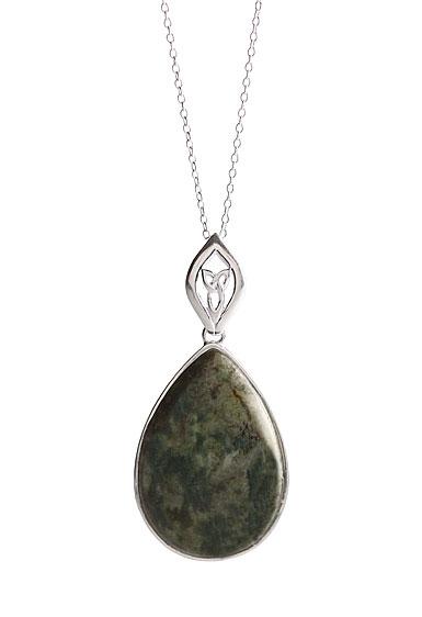 Cashs Connemara Marble Trinity Drop Necklace