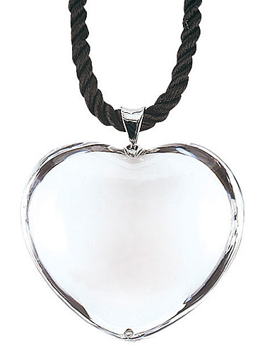 Baccarat Glamour Pendant, Sterling Silver Bale, Clear Heart
