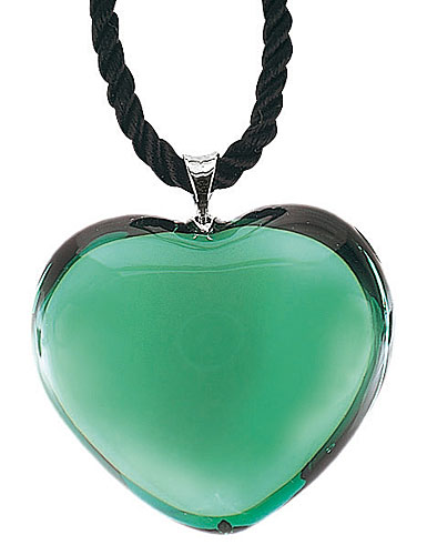 Baccarat Glamour Heart Pendant Jade