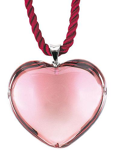 Baccarat Glamour Pendant, Sterling Silver Bale, Tourmaline Heart