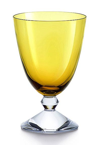 Baccarat Vega Water Glass, Topaz