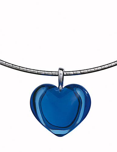 Baccarat Baby Coeur Necklace Sterling Silver Sapphire- Special!