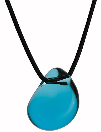 Baccarat Galet Pendant, Turquoise, Large