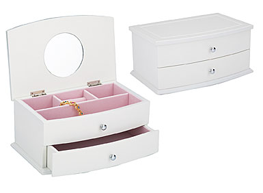 Reed and Barton Julia Jewelry Chest, White