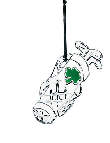 Galway Crystal Golf Bag Hanging Ornament