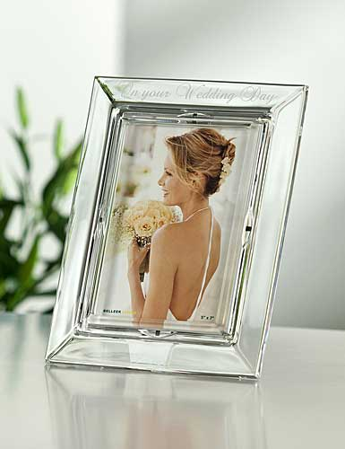 The perfect bridal gift, the Galway Crystal On your Wedding Day 5x7 ...
