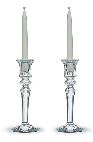 Baccarat Mille Nuits Clear Candleholders, Pair
