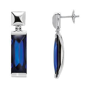 Baccarat So Insomnight Earrings, Blue Mordore