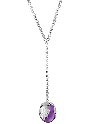 Baccarat Murmure Small Necklace, Purple Crystal
