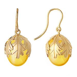 Baccarat Murmure Wire Earrings, Yellow Crystal