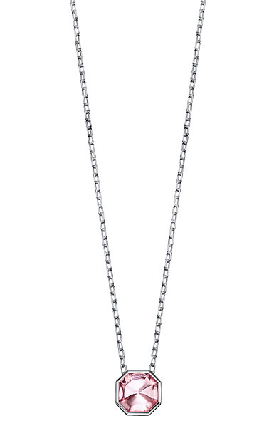 Baccarat LIllustre Small Pendant Necklace, Mirrored Light Pink Crystal
