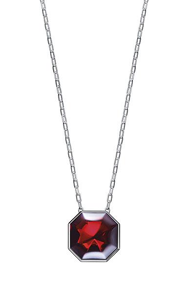 Baccarat LIllustre Medium Pendant Necklace, Mirrored Red Crystal