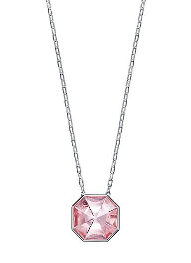 Baccarat LIllustre Medium Pendant Necklace, Mirrored Light Pink Crystal