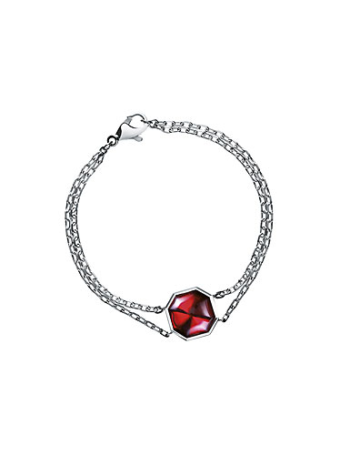Baccarat LIllustre Chain Bracelet, Mirrored Red Crystal