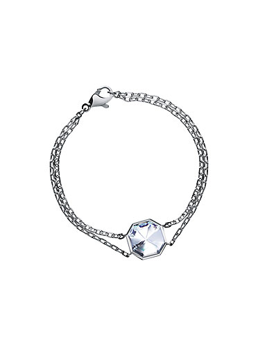 Baccarat Lillustre Chain Bracelet, Mirrored Clear Crystal
