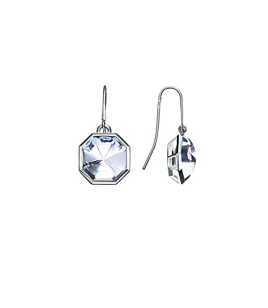 Baccarat LIllustre Wire Pierced Earrings, Mirrored Clear Crystal